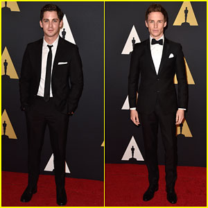 Eddie Redmayne & Logan Lerman Have a Guys' Night at the Governors Awards