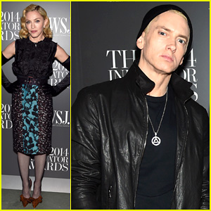 Madonna & Eminem Honor Dr. Dre and Jimmy Iovine at WSJ's Innovator Of The Year Awards 2014!