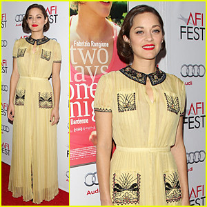 Marion Cotillard is Gorgeous Yellow at 'Two Days, One Night' AFI Screening