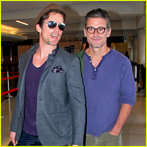 Matt Bomer & Simon Halls Are One Happy Jet-Setting Couple!