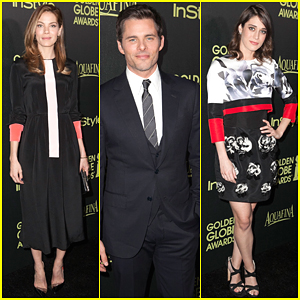 Michelle Monaghan & James Marsden Have a 'Best of Me' Reunion at Golden Globe Award Season Celebration