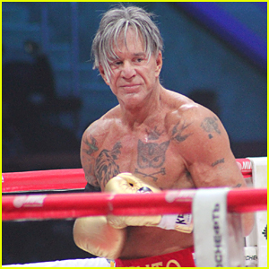 Shirtless & Ripped Mickey Rourke Wins First Boxing Match in 20 Years