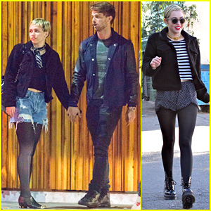 Miley Cyrus & Patrick Schwarzenegger Pack on the PDA During a Date Night