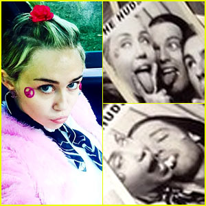 Miley Cyrus & Patrick Schwarzenegger Lick Each Other in Goofy Photo Booth