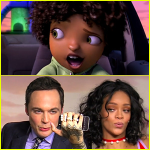Rihanna Stars in 'Home' Animated Movie Trailer, Teaches Co-Star Jim Parsons to Take the Perfect Selfie (Video)