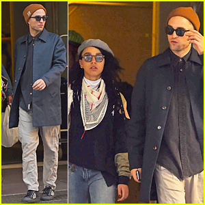 Robert Pattinson & FKA twigs Are a Beanie & Sunglasses Pair in NYC