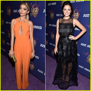 Sarah Hyland & Italia Ricci Show Off Their Homecoming Style at Just Jared's Party!
