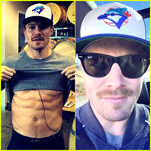 Stephen Amell Makes Movember Better by Flashing His Abs!