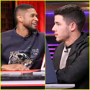 Usher & Nick Jonas Compete Against Each Other During Pyramid Game on 'Tonight Show' - Watch Now!