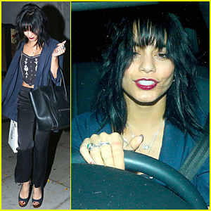 Vanessa Hudgens Shows Off New Black Hair & Bangs!