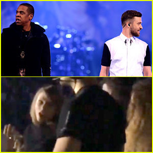 Beyonce & Taylor Swift Dance Together at Justin Timberlake's Concert! (Video)