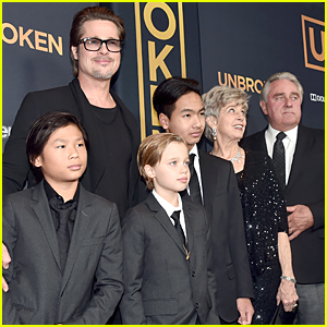 Brad Pitt Brings Three of His Kids to 'Unbroken' Hollywood Premiere