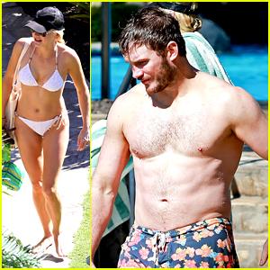 Chris Pratt & Anna Faris Show Off Their Amazing Beach Bodies!