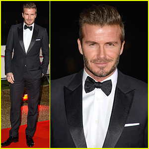 David Beckham Looks Beyond Dreamy in a Tuxedo at Sun Military Awards 2014