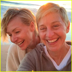 Ellen DeGeneres & Portia de Rossi Celebrate 10 Year Anniversary, Share Adorable Makeup Free Sefies!