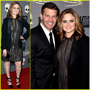 Emily Deschanel Shows Off Her Growing Baby Bump at Bones' 200th Episode Celebration with David Boreanaz!