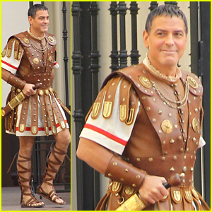 George Clooney Holds His Sword Tight for 'Hail, Caesar!' Filming