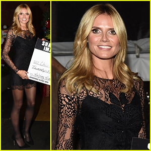 Heidi Klum Presents $25,000 Donation to Children's Hospital Los Angeles Helping Hands Fund!