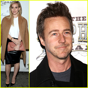 Hilary Duff & Edward Norton Support Bradley Cooper at 'The Elephant Man' Broadway Opening!
