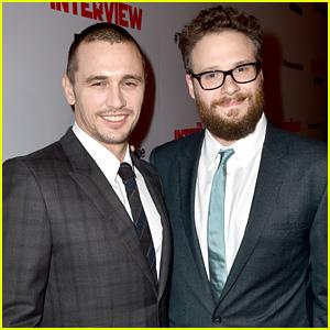 James Franco & Seth Rogen Suit Up for 'The Interview' Premiere