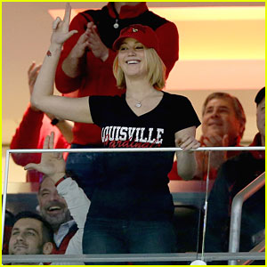 Watch Jennifer Lawrence Cheer on Louisville Cardinals