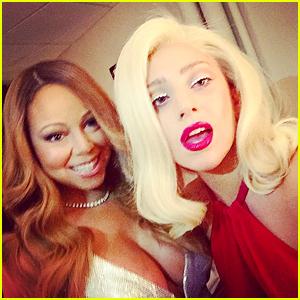 Lady Gaga & Mariah Carey Take Epic Selfies at Christmas Show
