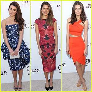 Lea Michele & Nikki Reed Are Beautiful Brunettes at THR Women in Entertainment Breakfast