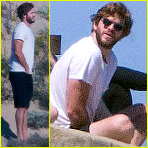 Liam Hemsworth Lounges by the Beach with His Australian Pals