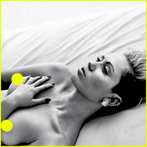 Miley Cyrus Poses Topless for 'F