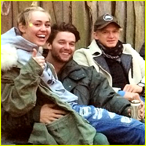 Miley Cyrus Sits on Patrick Schwarzenegger's Lap in Nashville