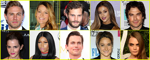 Just Jared's 50 Most Popula
