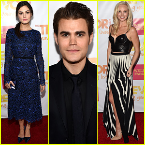 Paul Wesley & Phoebe Tonkin Make It a Date Night at TrevorLIVE LA!