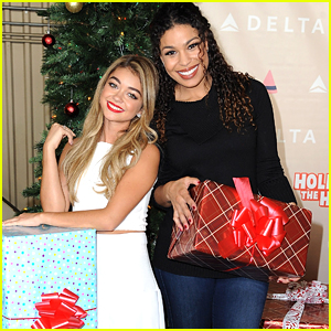 Sarah Hyland & Jordin Sparks Celebrate The Holiday Season With Delta's Holiday In The Hangar