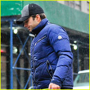 Sebastian Stan Gets Soaking Wet in the Big Apple