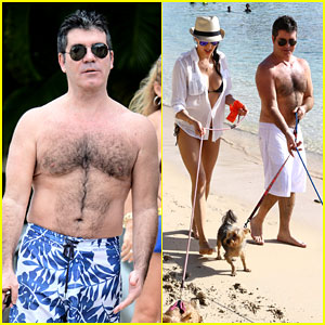 Simon Cowell Shows Off His Shirtless Body During Vacation with His Girlfriend