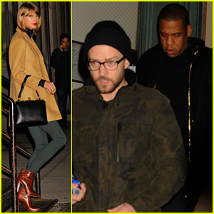 Taylor Swift Spends Time with Justin Timberlake & Jay Z at Her NYC Apartment!