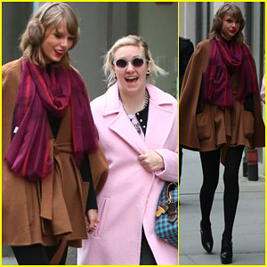 Taylor Swift & Lena Dunham Hold Hands After Gr