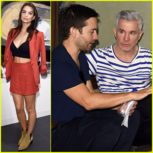 Tobey Maguire Reunites with 'Great Gatsby' Director Baz Luhrmann at Art Basel Miami Beach VIP Preview!