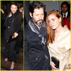 Amy Adams & Maggie Gyllenhaal Brave the Rain for WME Pre-Golden Globes 2015 Party