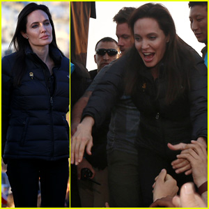 Angelina Jolie Visits Kurdish Refugee Camp in Iraq (Video)