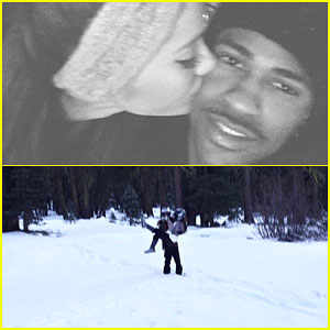 Ariana Grande & Big Sean Show Some PDA During Their Tahoe Trip