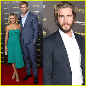 Chris & Liam Hemsworth Are Hot Brothers at the G'Day Gala