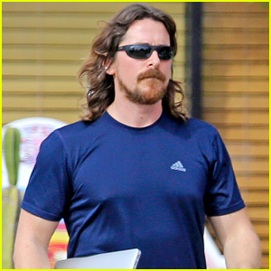 Christian Bale Gets Sweaty During Pre-Birthday Workout