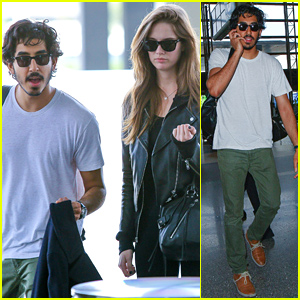 Dev Patel Flies Out of Town with a Mystery Brunette