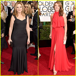 Edie Falco & Allison Janney Are Beautiful Nominees at Golden Globes 2015
