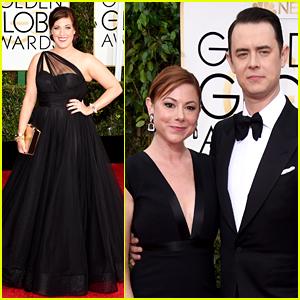 Fargo's Allison Tolman & Colin Hanks Attend Golden Globes 2015