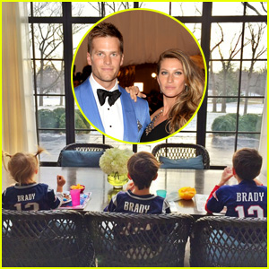 Tom Brady's Wife Gisele Bundchen & Kids Wear His Jersey for AFC Championship Game!