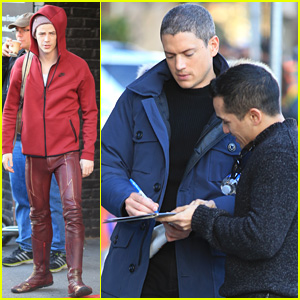 The flash star grant gustin holds hands with girlfriend hannah grant gustin m4hsunfo