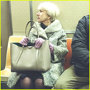 Helen Mirren Rides the Subway Looking Chic As Can Be