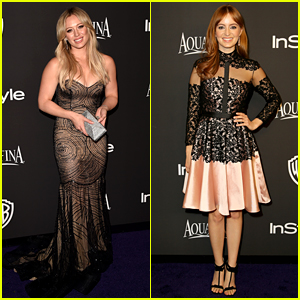 Hilary Duff & Ahna O'Reilly Glam Up InStyle's Golden Globes Party 2015!